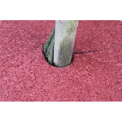 Colored Rubber Mulch Ring