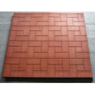 Rubber stable mat floor