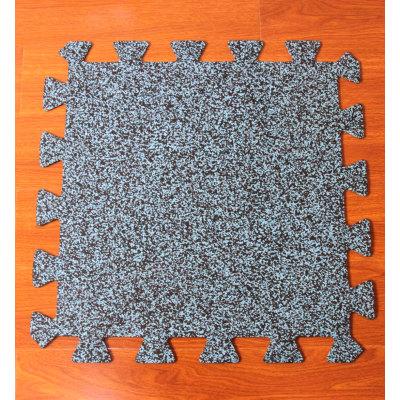 Interlocking rubber mat