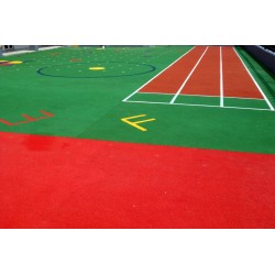 Colorful epdm granule application