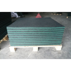 Rubber tiles for playing fields