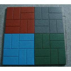 Square Rubber Flooring Tiles