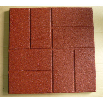 Red Square Rubber Flooring