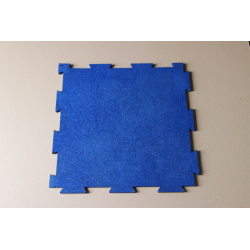 Interlocking Rubber Mat/matting(blue)