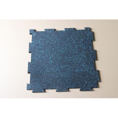 Interlocking fitness floor tiles