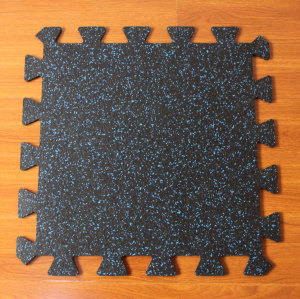 Interlocking Gym Rubber flooring