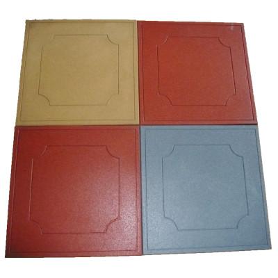 50*50cm New design surface rubber flooring