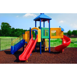 Rubber mulch for playground