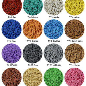 Colorful EPDM Granules