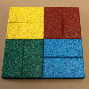 colour rubber tile