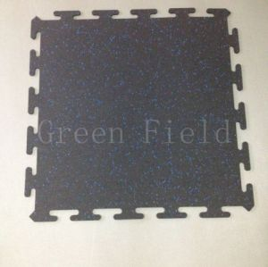Interlocking rubber mat