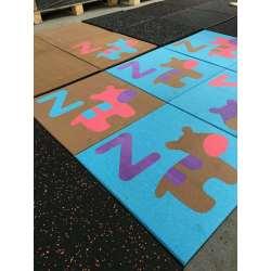 En1177 Approvaled Colorful Kindergarten Playground Rubber Tiles