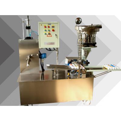Semi-auto relleno de gel de silicona y de presión de tapa de la máquina