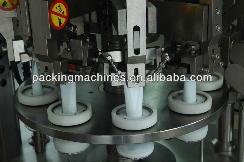 bns-50b الالومنيوم الأنبوبة ملء وختم الآلة