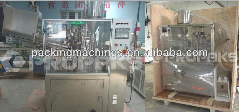 semi automática del tubo de llenado y sellado de la máquina