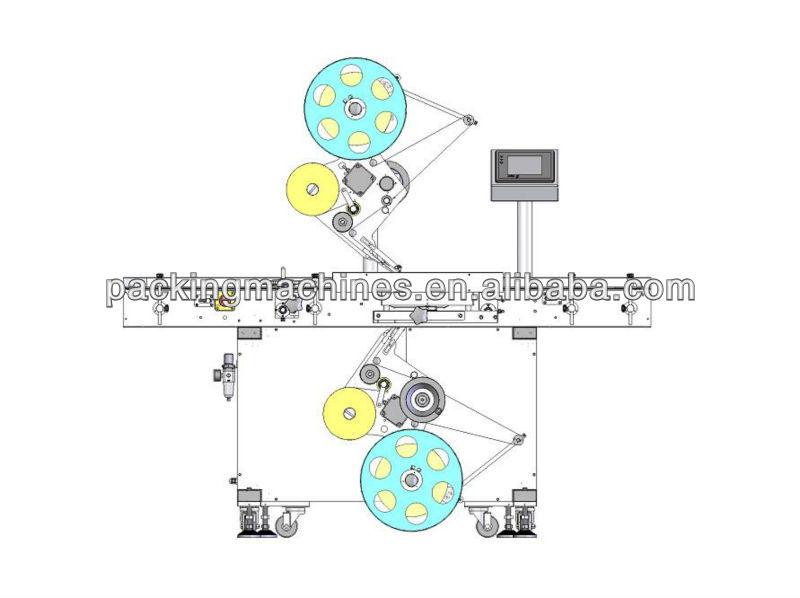 bnstbdsx superior e inferior de la máquina de etiquetado