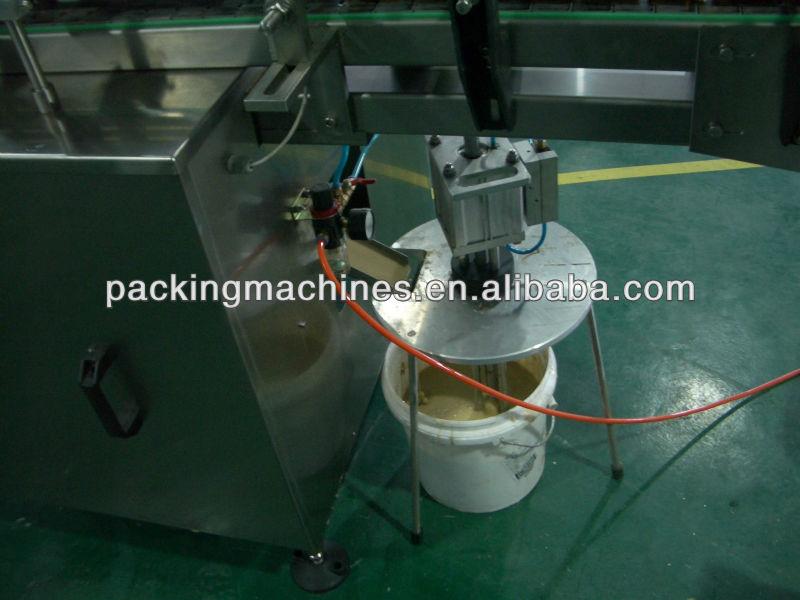 Bns-08 mojado pegamento máquina de etiquetado