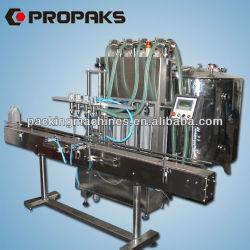 Bns-4t-4g cuatro cabezas de líquido de llenado automático de la máquina