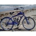 Gas moto, bicicleta de poder, playa crucero