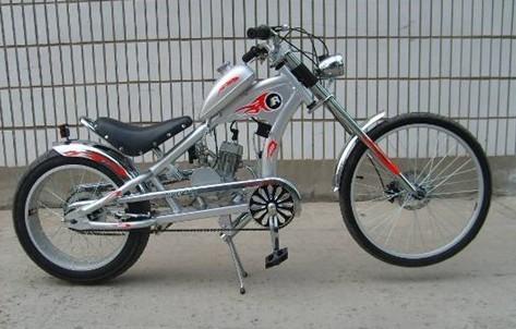 الغاز دراجة المحرك مع محرك عدة، دراجة المروحية