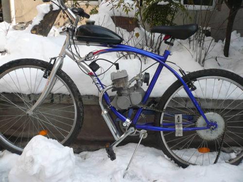 السلطة الدراجات الجبلية، دراجة آلية مع مجموعة المحرك
