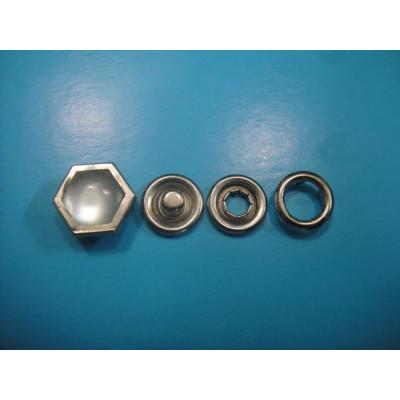 Designer Snap Button Hexagonal Pearl Snap Button