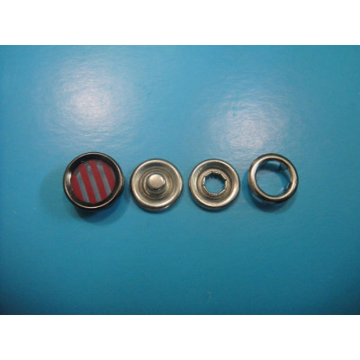 Red Pearl Snap Button Pearl Snap Fastener