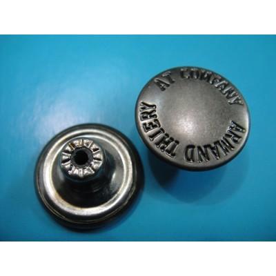 Antique Silver Fashion Jeans Button Jeans Metal Button
