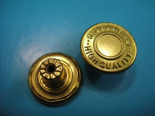 Golden Fashion Jeans Button Jeans Metal Button