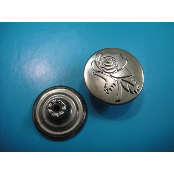 Fashion Metal Copper Jean Buttons