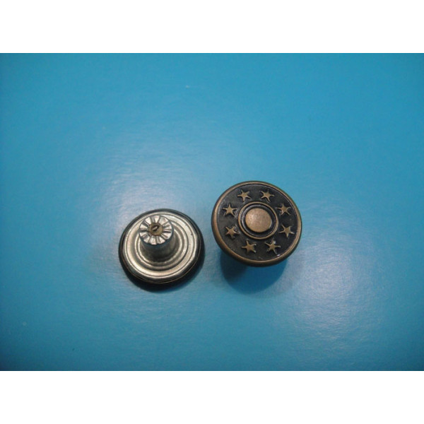 15MM Metal Jeans Snap Button