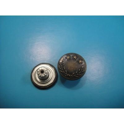 15MM Metal Jeans Snap Button Plain Jeans Button