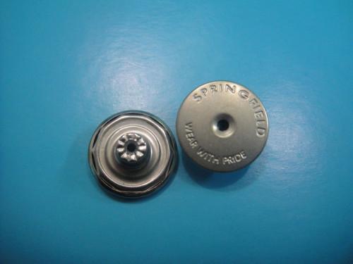 Flat Dull Silver Metal Shank Button