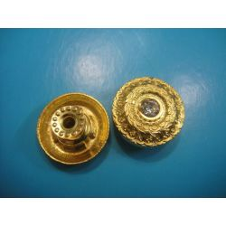 Golden color Jeans button with diamond