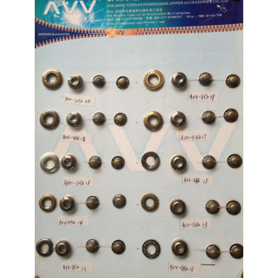 Metal Press Snap Buttons with hole