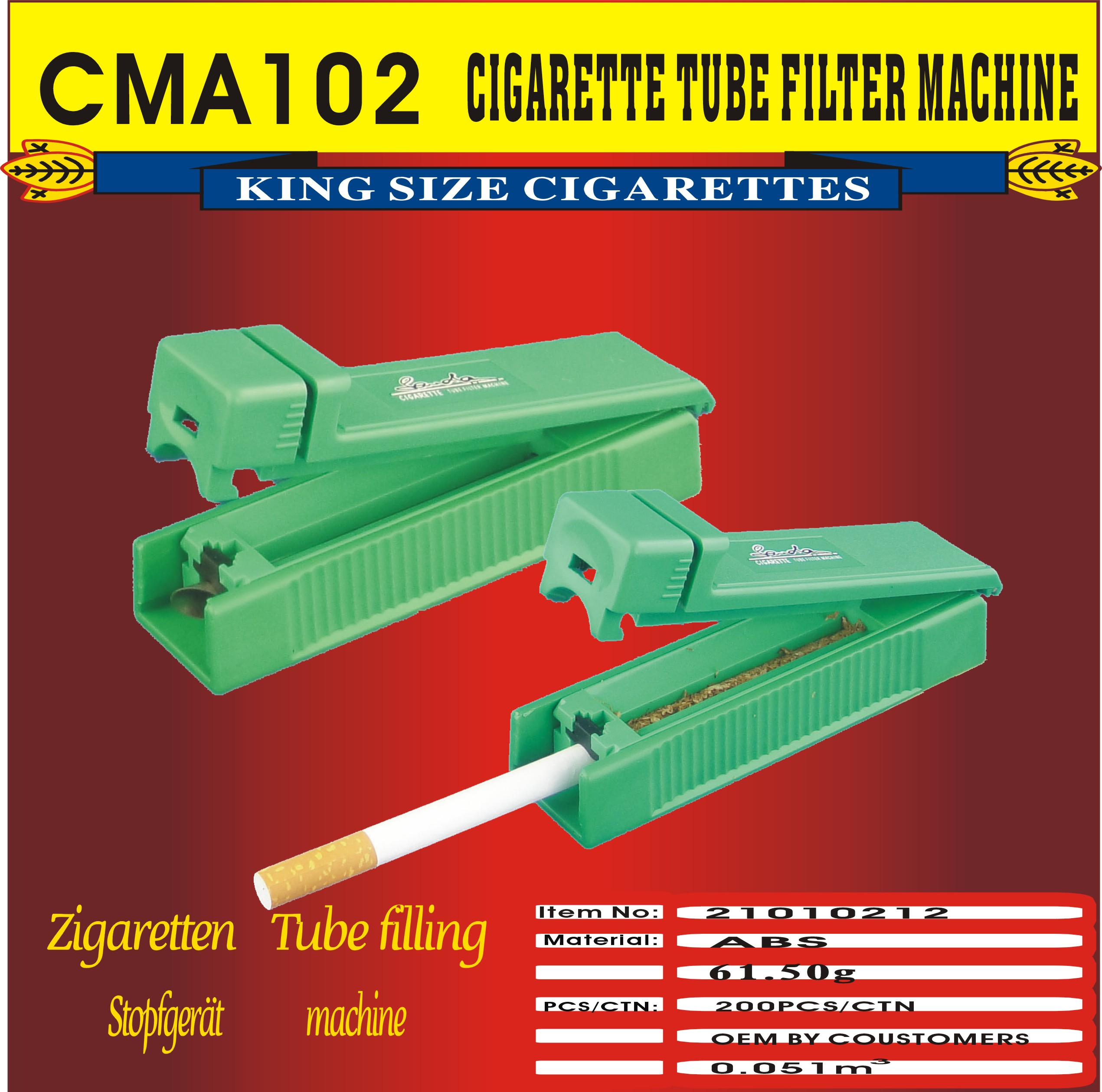 metal mouth cheaper price  Cigarette Tube filter rolling Machine
