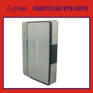 Новый дизайн ветрозащитный зажигалка, портсигар металл с более светлыми, металлический ящик с сигаретой легче