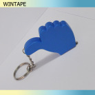 Thumbs up shape mini steel keyring tape measure