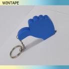 Thumbs up shape mini steel keyring tape measure