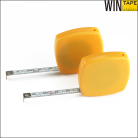 Double Side graduated square retractable mini steel 2m keyring tape measure