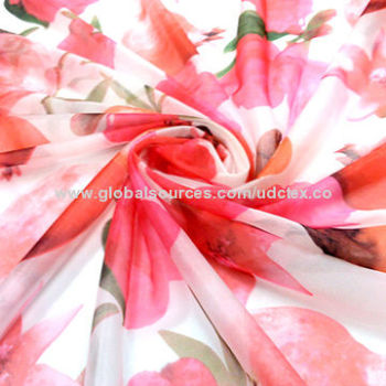 Printed Polyester chiffon fabric , very popular for lady's shirt and dress