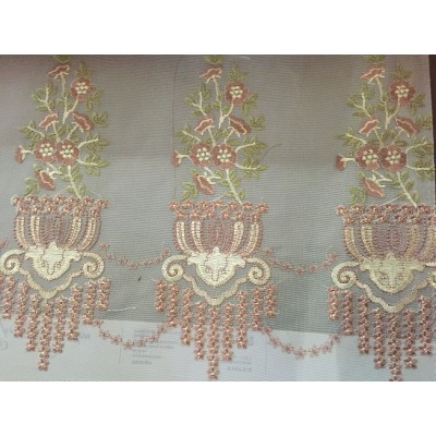 New Design Embroidery Curtain screen small MOQ fast delivery