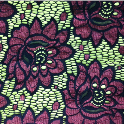 Mixed Color Embroidery Fabric /Dress Fabric for Garments