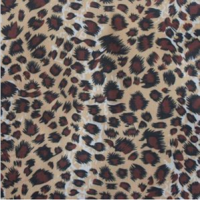 Oxford 210d Ripstop PVC/PU Leopard Printing Polyester Fabric