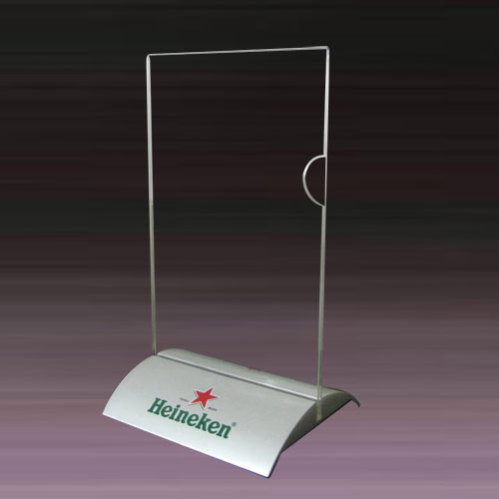 Aluminum Base Menu Holder China Aluminum Table Tent