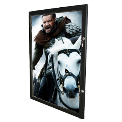 Black Lockable Poster Frame