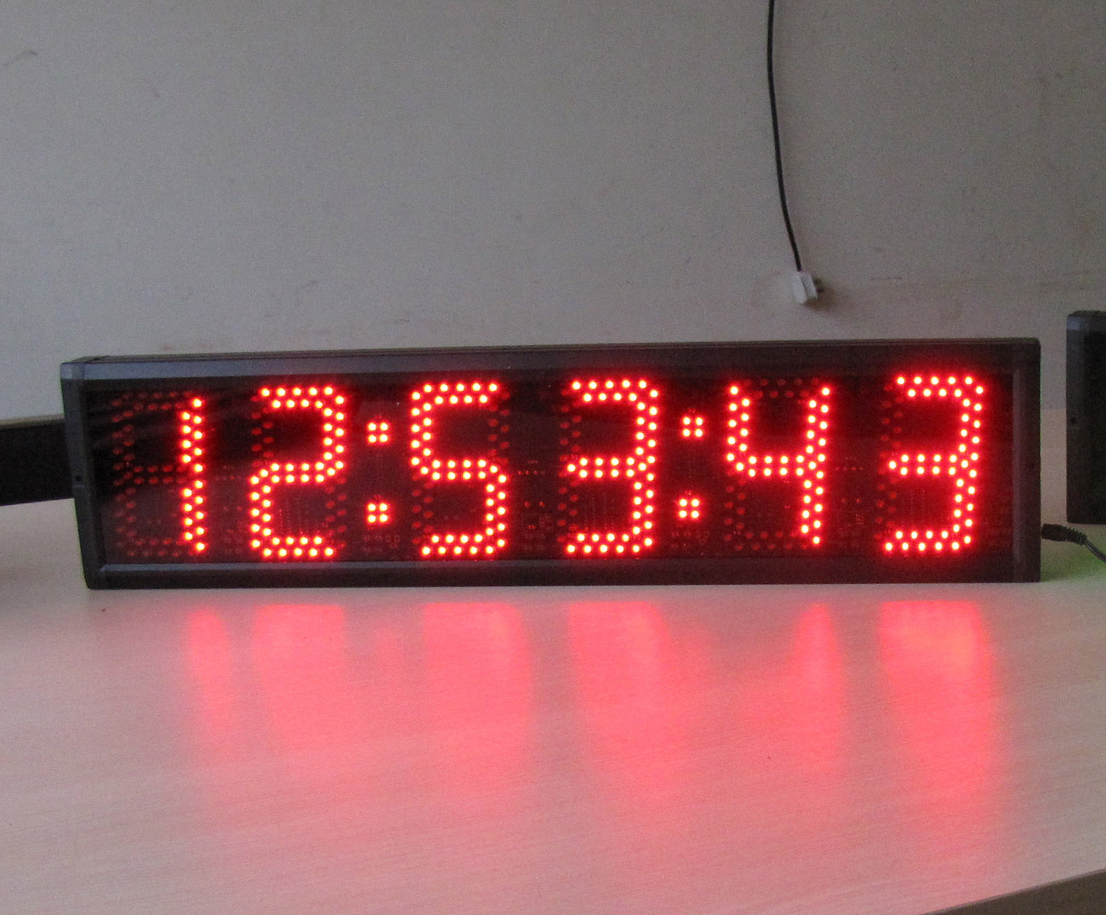 Semi outdoor led wall clock 5 large led digital clock Digital led wall clock