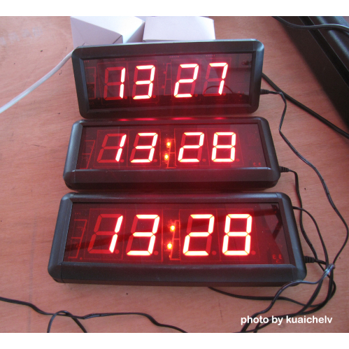 Large led digital wall clock time display 23 large led digital wall clock hours minutes format support 12 amipublicfo Image collections
