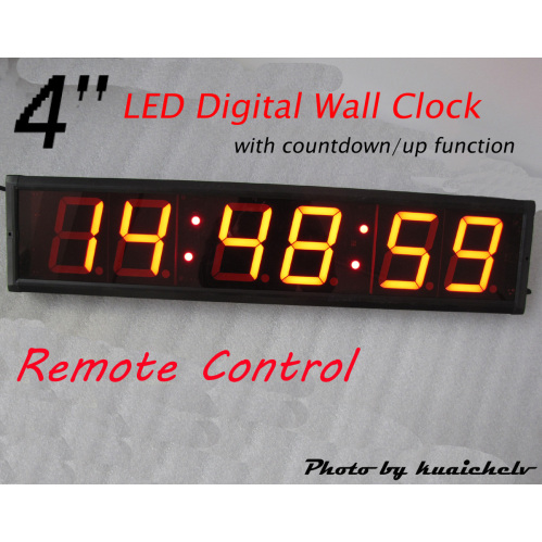 Digital wall clock home design mannahatta large 4 large led digital wall clock hours minutes seconds format suppo amipublicfo Images
