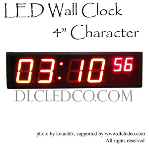Large Digital LED Wall Clock Hours Minutes Seconds Format 12/24 hours format Wall Clock